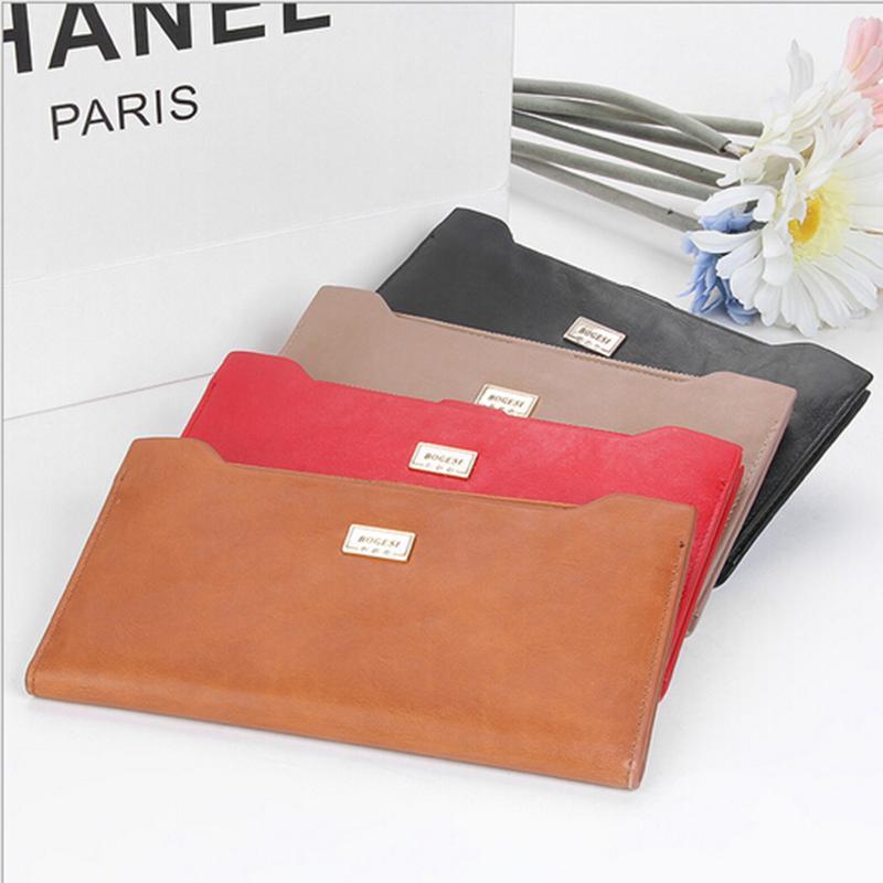 hermes birkin bags for sale - Bogesi Brand Zipper Hasp Design Genuine Leather Women Long Wallet ...