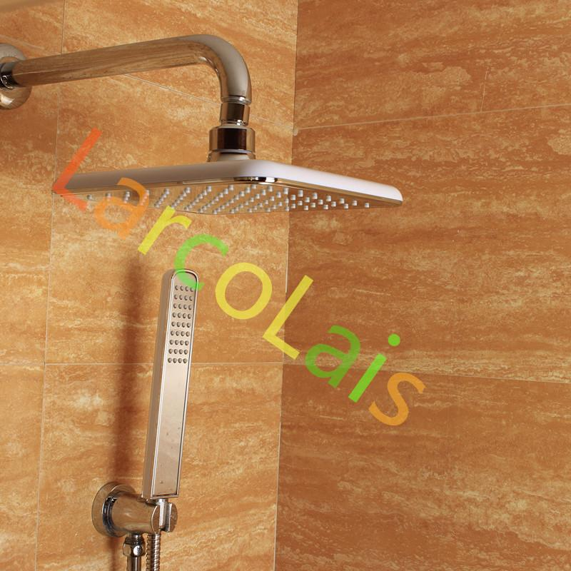 Luxury Bathroom Rainfall ABS Rain Top Spray Square Shower Head with Handheld