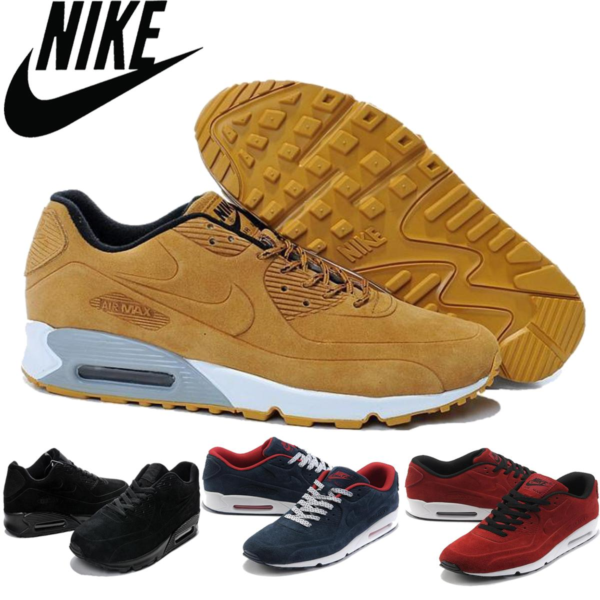 Nike Air Max 90 Men Shipping 2016 Nike Max 90 Vt Antifur Cow Leather Running Shoes Fashion Sports Airmax 90vt Training Shoes For Male,40-45 Online with ...