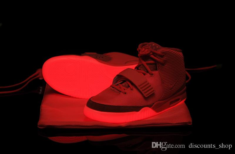 Womens Air Yeezys Red Grey shoes