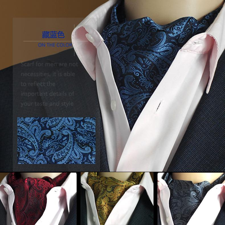 2017 high quality brand scarves mens suit neck ties ascot