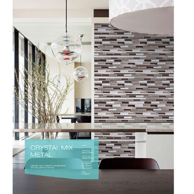 Long Strip Grey Color Background Kitchen Backsplash Tiles For Bathroom Wall Tiles Glass Mosaic Tile Flooring Tiles Kitchenroom Backsplash