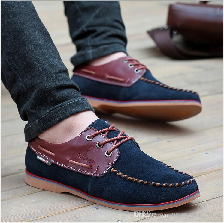 New 2015 Gommini Driving Shoes Men Loafers Genuine Leather Mens ...