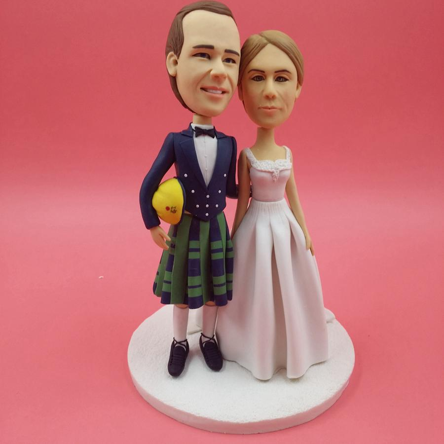 Wedding Cake Toppers Real Faces: Wedding cake topper silhouette ...