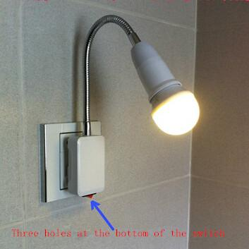 2017 Led Energy Saving Lamp Switch, Plug Small Night Lamp Bedside Lamp Wall Lamp Light Universal ...