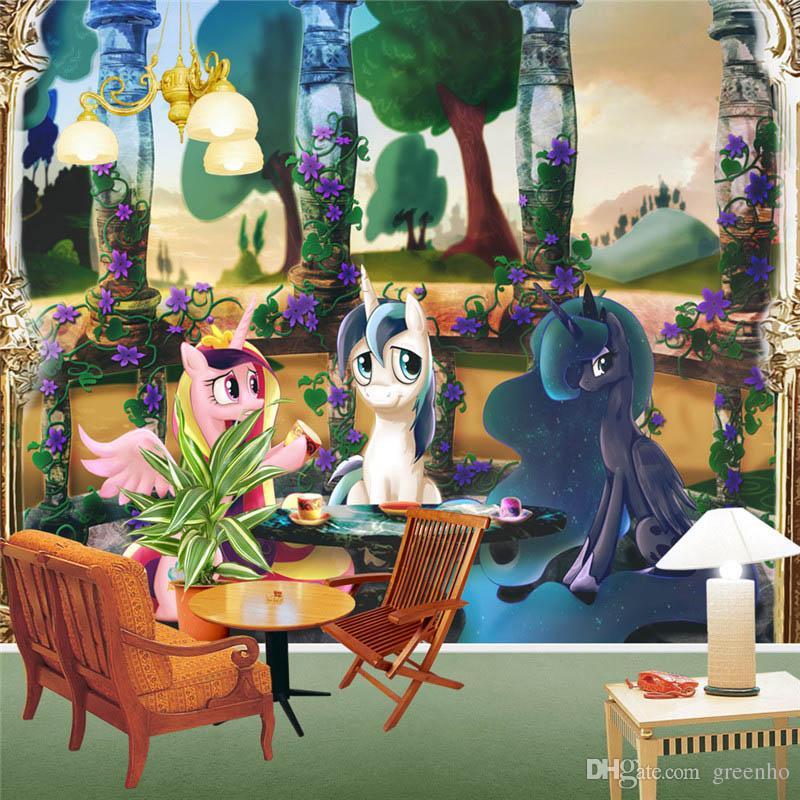 my little pony wall murals cartoon anime wallpaper photo wall mural my little pony colorful rainbow dash