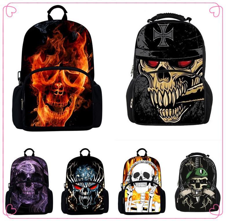 Trendy Skull Backpack Children School Bags For Boys,Cool Bone ...