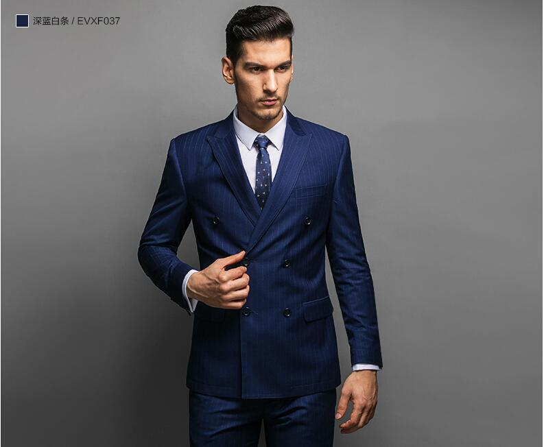 Suit Jacket with Pants Slim Fit Double Breasted Suit Wedding Dress ...
