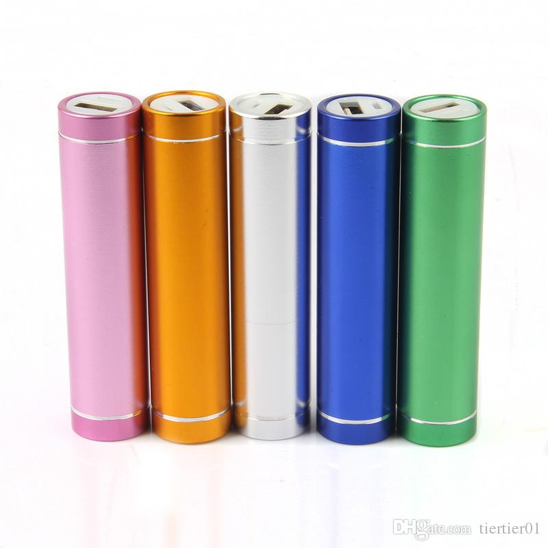 Mini Mobile Power Bank Cylinder Lipstick Shape 2000mAh