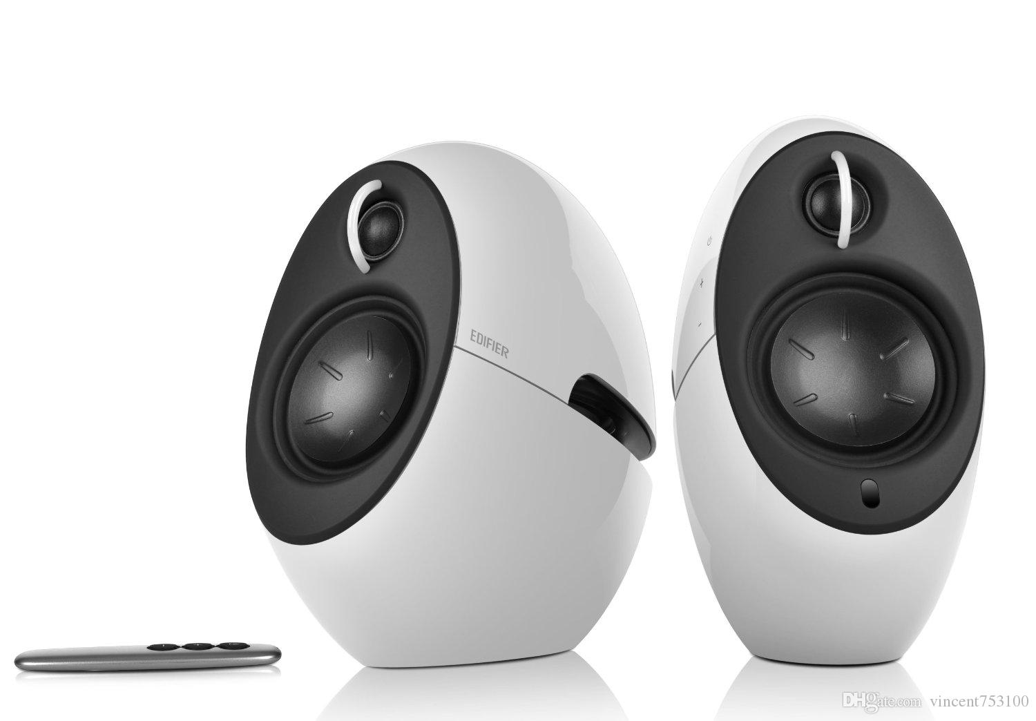 computer speakers white. luna eclipse stunning 2.0 speaker white with wireless bluetooth aux optical fiber remote control perfect computer tv home speakers e