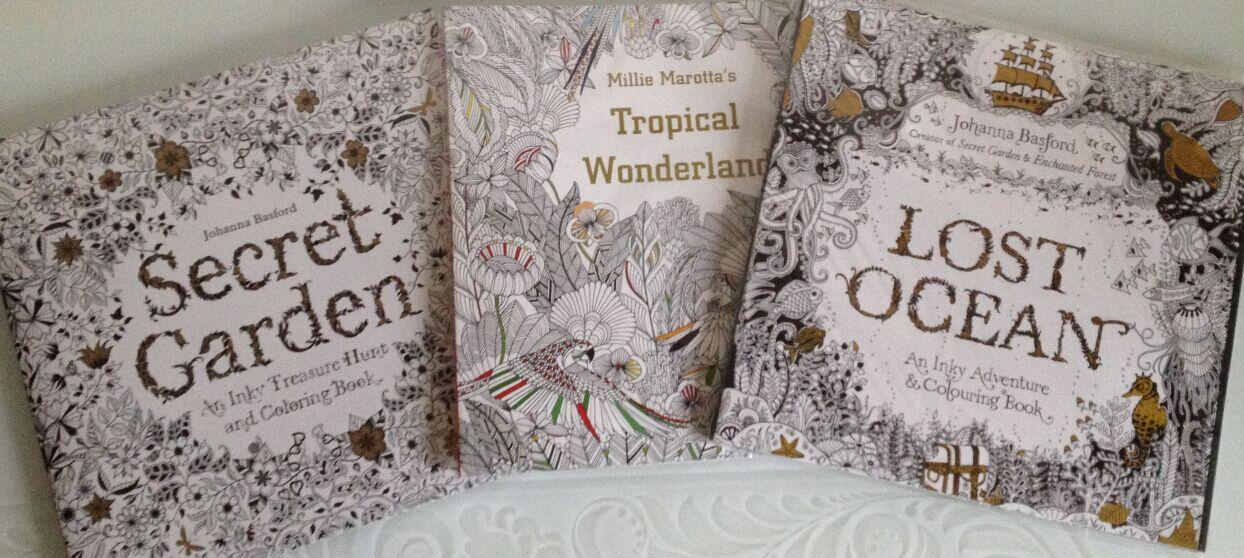 Johanna Basford Colouring Books Secret Garden Tropical Wonderland Lost Ocean With Pencil Coloring Book Animal Kingdom Online