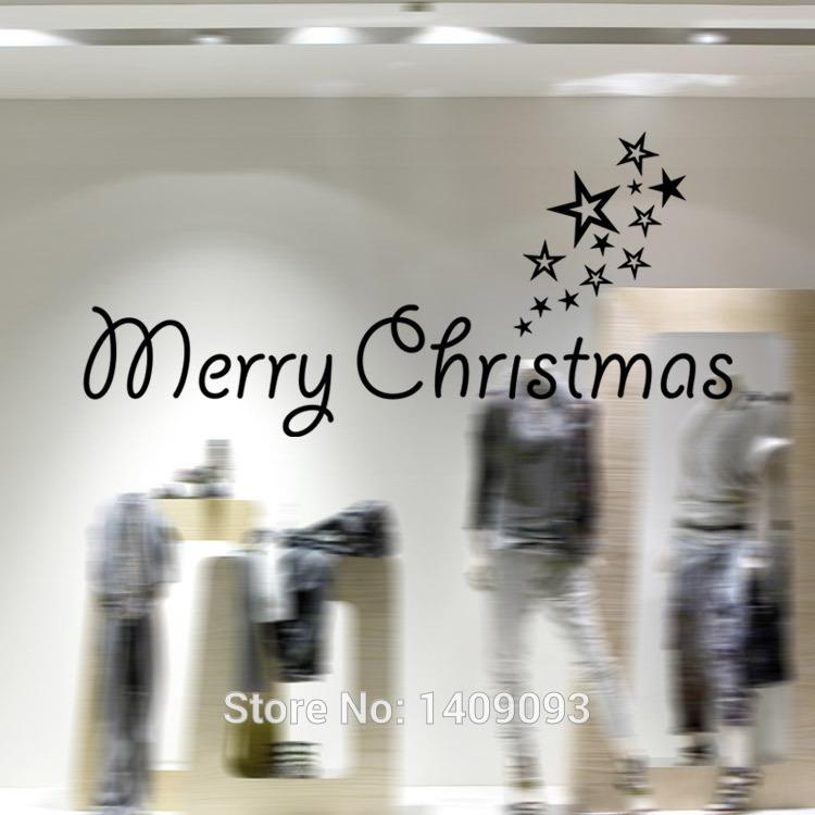 Vinilo merry christmas decoration wall quotes stickers for Christmas decoration quotes