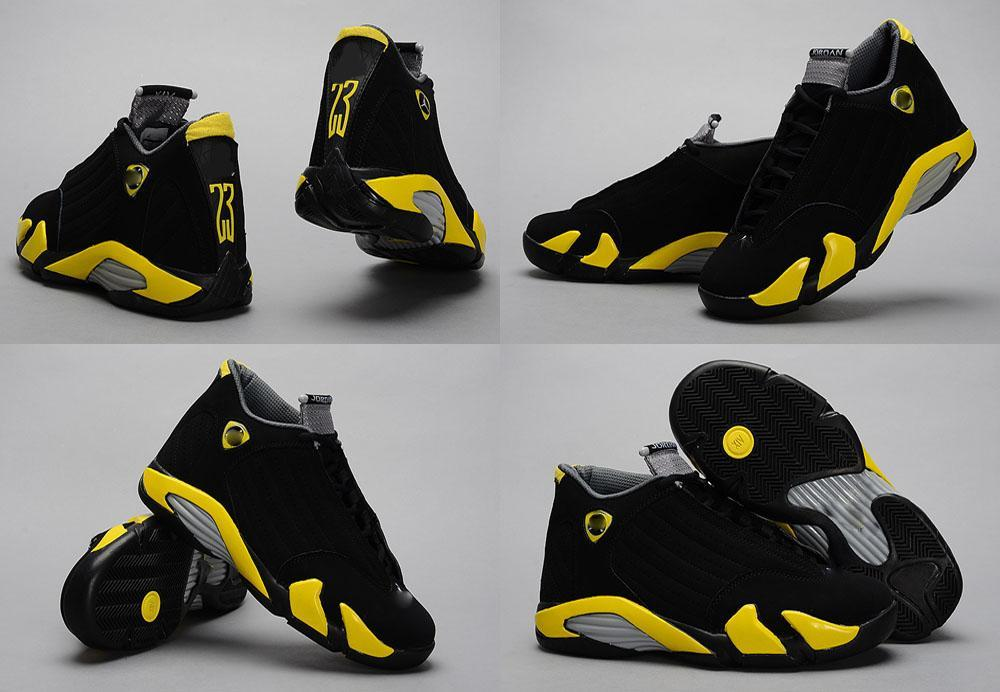 Store Product Famous Jumpman Retro 14 Xiv Yellow Black 213071266 Retro 14 Black And Yellow