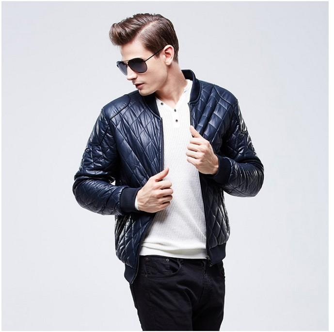 The New Male Leather Jackets Motorcycle Jacket Business Thickening