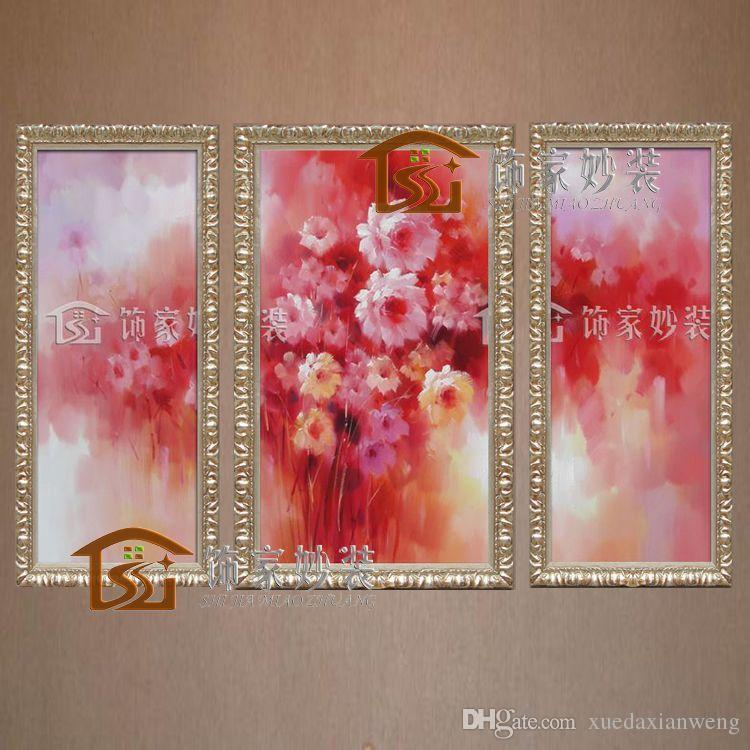 2017 Impression Flower Rose New Home Decoration Paintings Hand Painted Oil Painting Decorative Picture Group Of Red Flowers From Xuedaxianweng