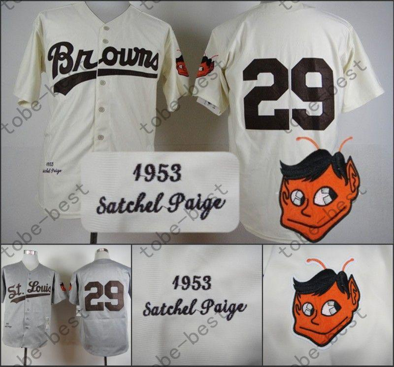 Uniformes Leroy Robert Satchel Paige Jersey Authenitc Vintage St. Louis Baseball