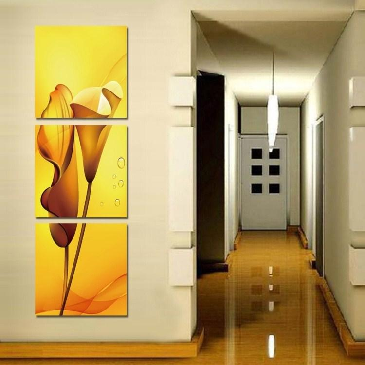 Fashion Vertical Abstract Flower Painting Frame Painting Decorative Painting Living Room Bedroom Modern Minimalist Paintings Stu Side Bangs Curly Hair Long