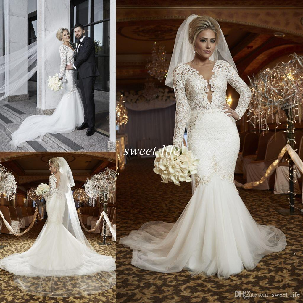 2016 Spring Berta y Plus Size Lace Wedding Dresses
