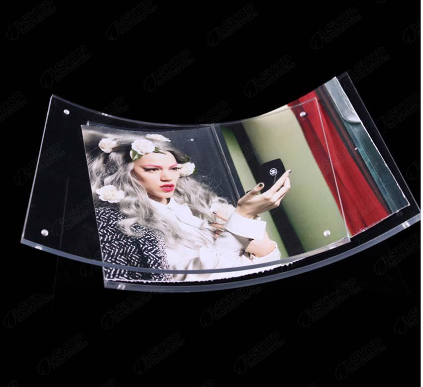 85x11 curved clear lucite certificate framing with magnetic transparent pmma photo frames good for display your pictures curved sign displays curved lucite