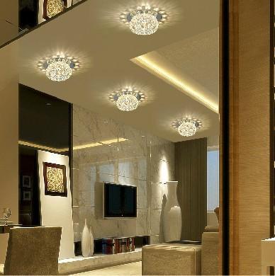 Moderno techo LED de 3W Focos Crystal Balcón Pasillo Sala de estar ...