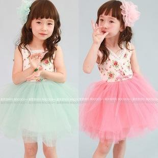 2017 2015 Summer Children Dress Embroidered Kids Tutu Gauze Dress ...