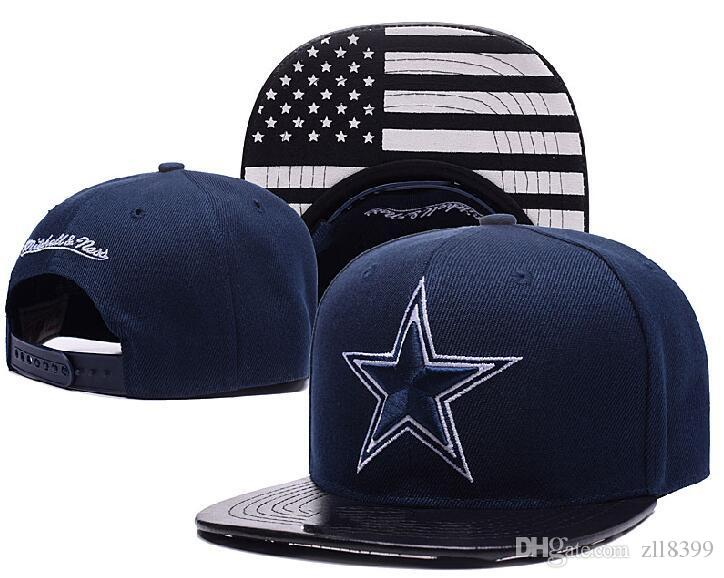 Des milliers Dallas Snapback Snap Back Hat For Men Summer, American Cowboy Footb
