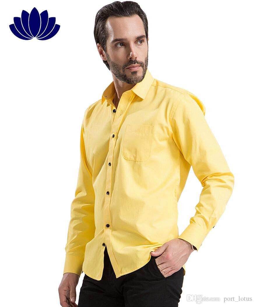 yellow dress shirt outfit men