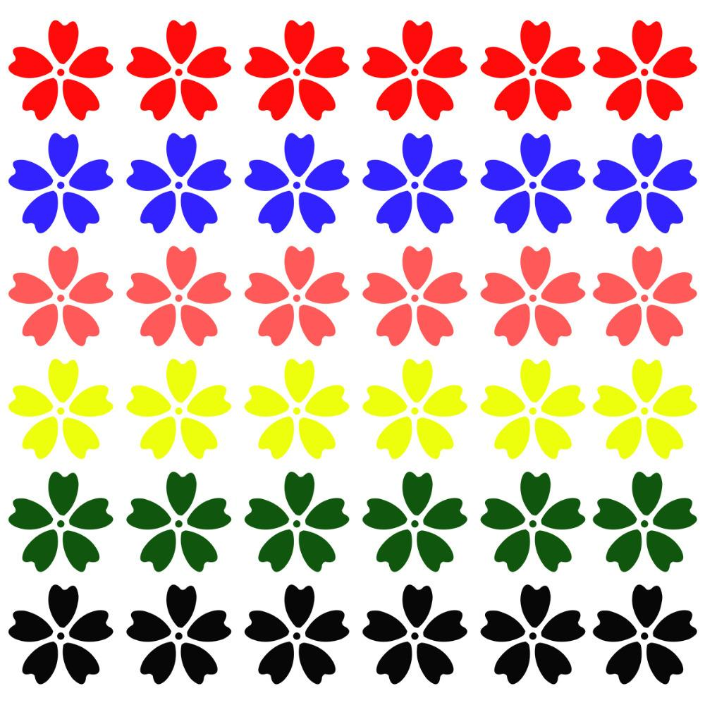 Cute car sticker designs - Car Stickers 6 Color Flowers Shape Cartoon Style Waterproof Sticker Car Styling Stickers On Cars Cute