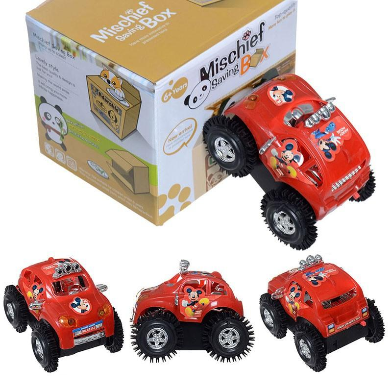 micky mouse somersault car children kids electric car toys 2 aa battery driven 4 wheel cartwheeling vehicle cute gift mickey car mickey mouse