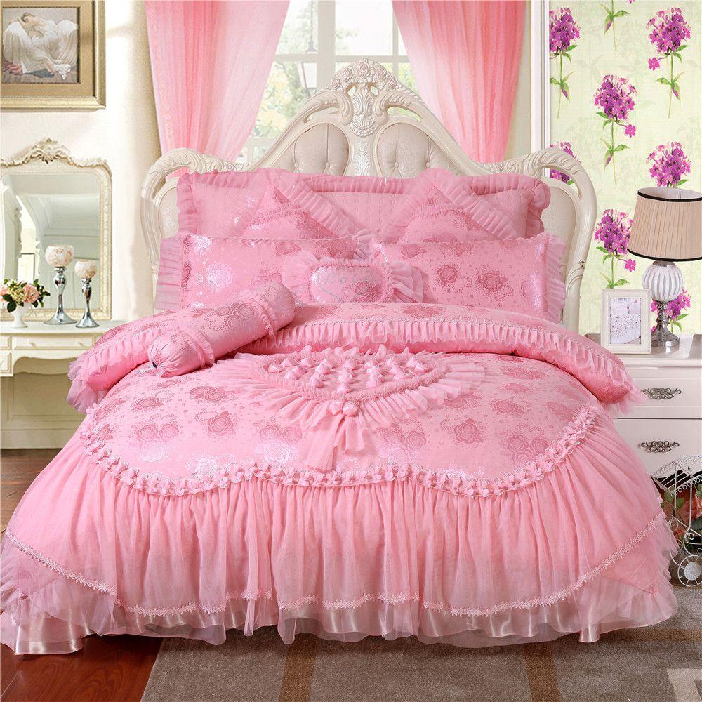Luxurious Red Pink Bedding Sets Fashion Wedding Bedding