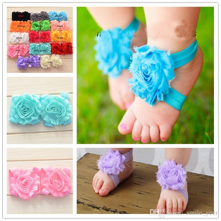 Baby Flower Sandals Newborn Baby Barefoot Sandals Baby ...