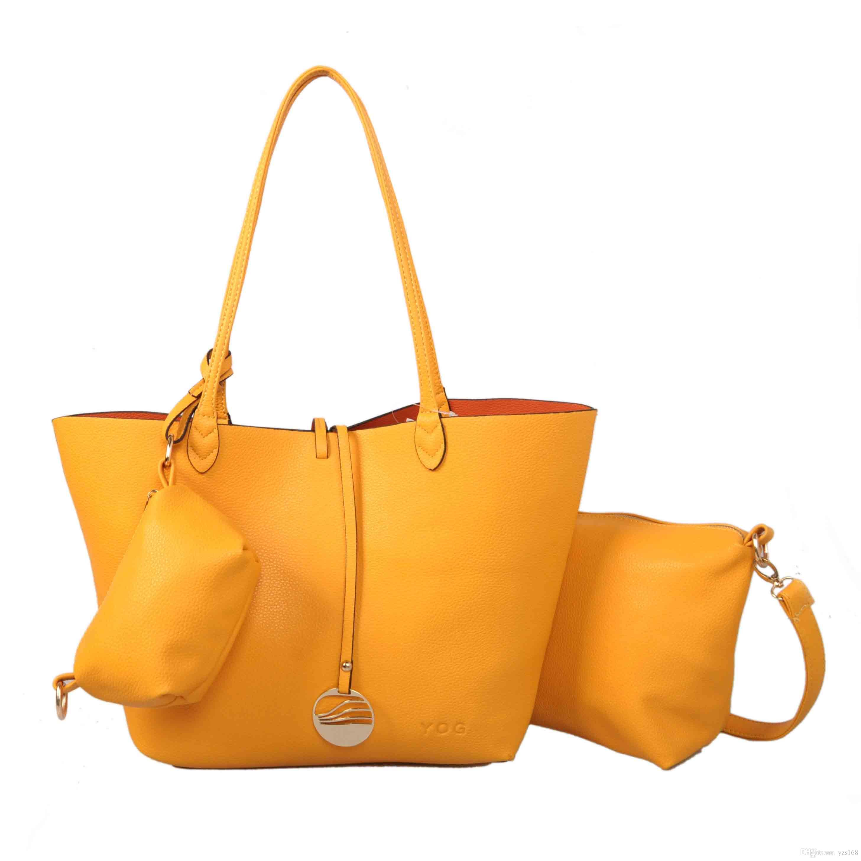 2016 Brand New Hot Sell Yellow Fashion Bags Shoulder Bags Totes ...