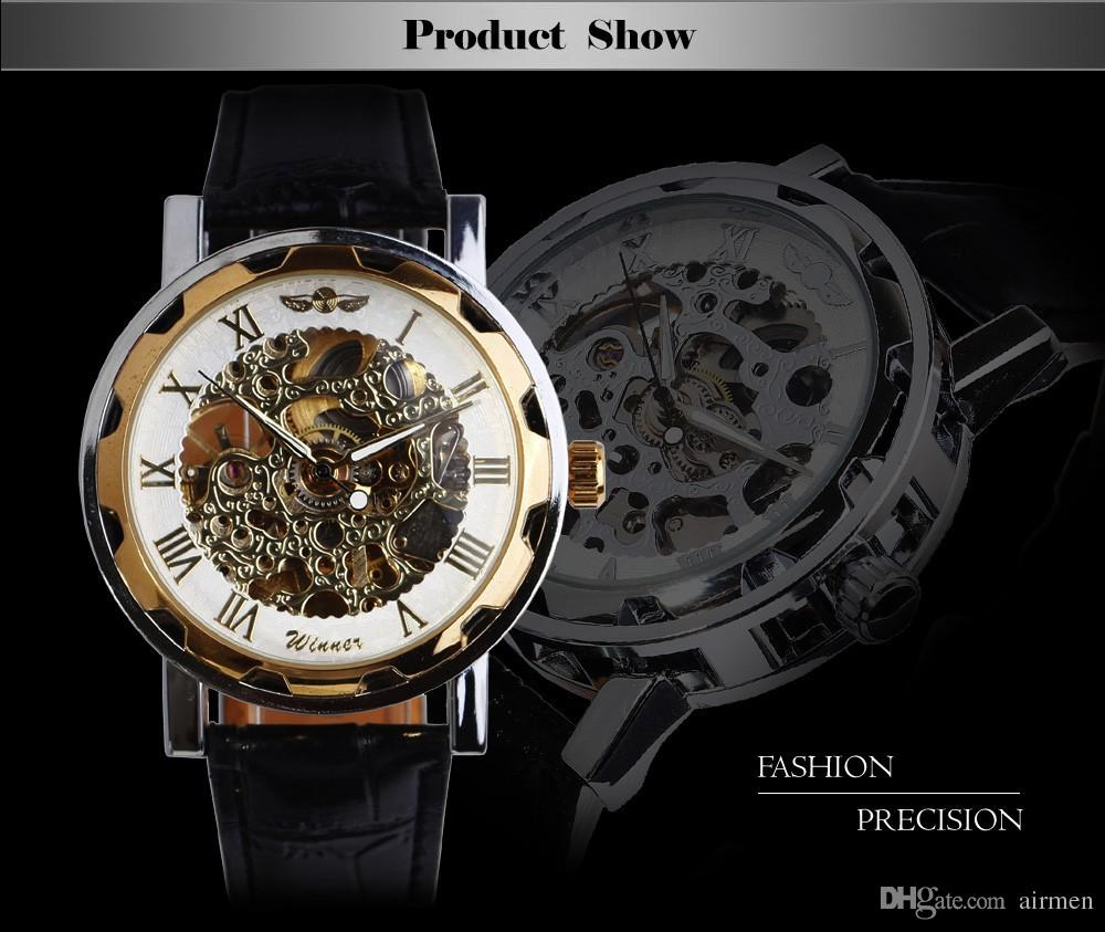 best skeleton watches online best automatic skeleton watches for best gift 2015 greek numerals dial watches cool men retro hollow mechanical watch leather vintage skeleton wheel gear totem watch ship
