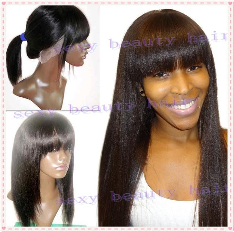 Yaki Full Lace Wigs With Bangs 77