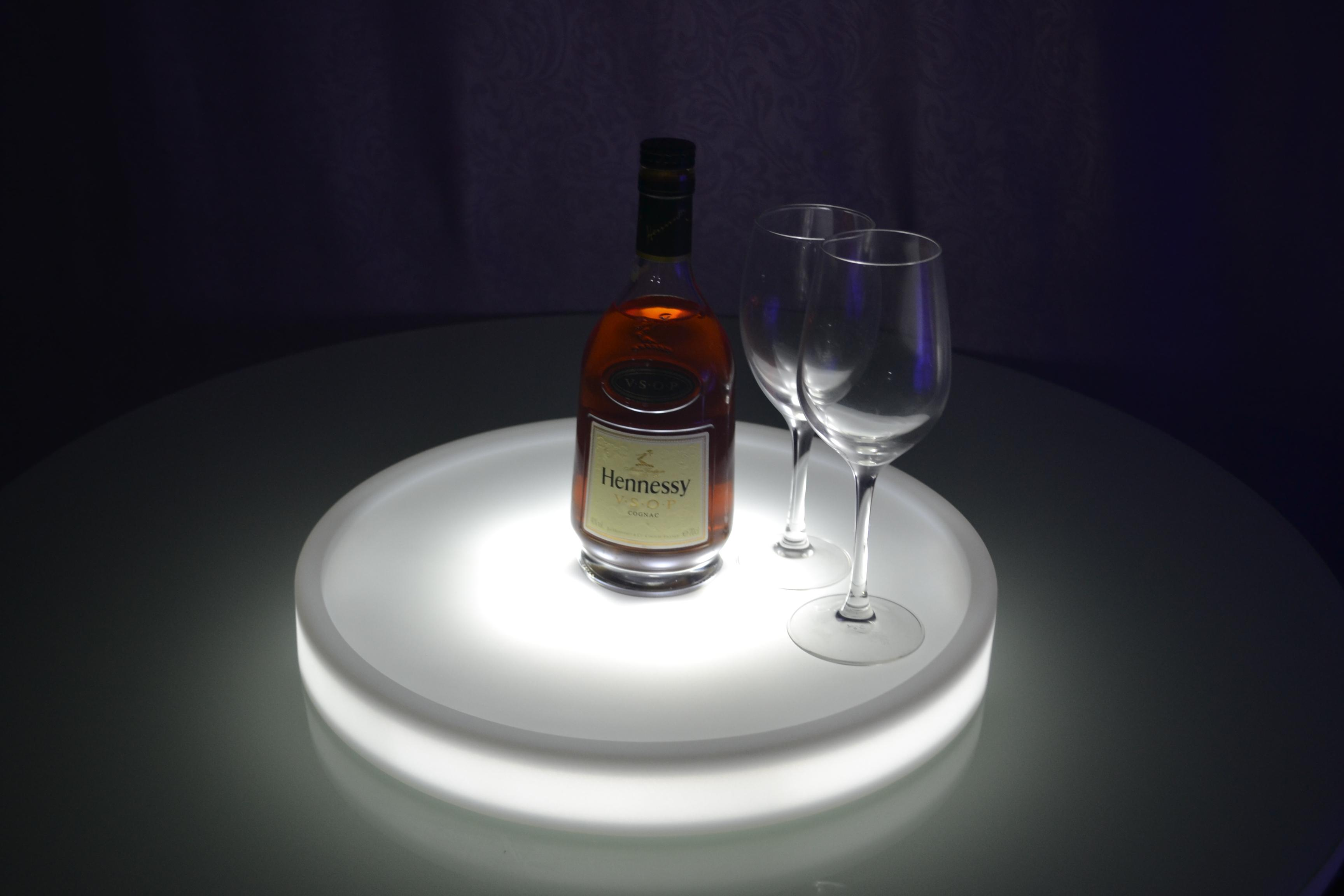Waterproof Led Light Up Serving Tray Multi Colors