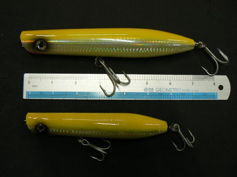 6 inch 2oz deep sea boat fishing lures wood pencil popper for Deep sea fishing lures