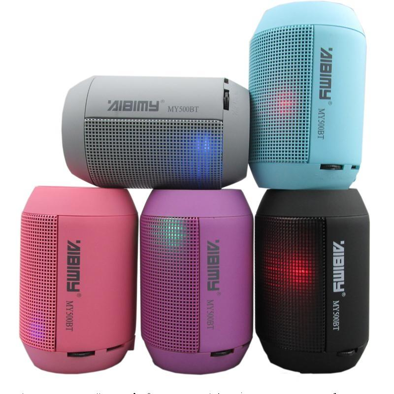 mini wireless enceinte speaker with led light bluetooth. Black Bedroom Furniture Sets. Home Design Ideas