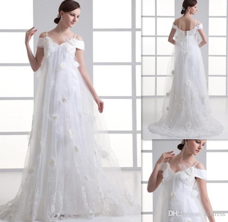 2015 pregnant woman wedding dresses off the shoulder for Pregnant women wedding dresses
