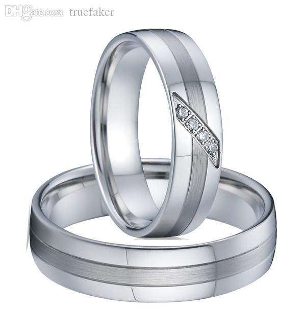 wholesale 2015 new classic private design white gold style western titanium engagement wedding rings couple sets for men and women yellow gold engagement