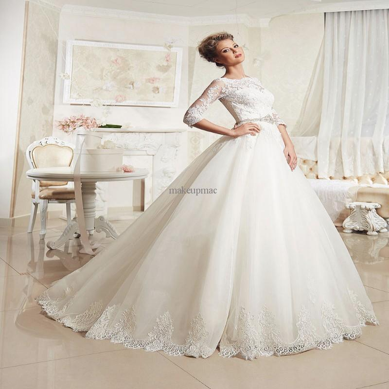 New brand large size full figured wedding dresses with for Wedding dresses for larger figures