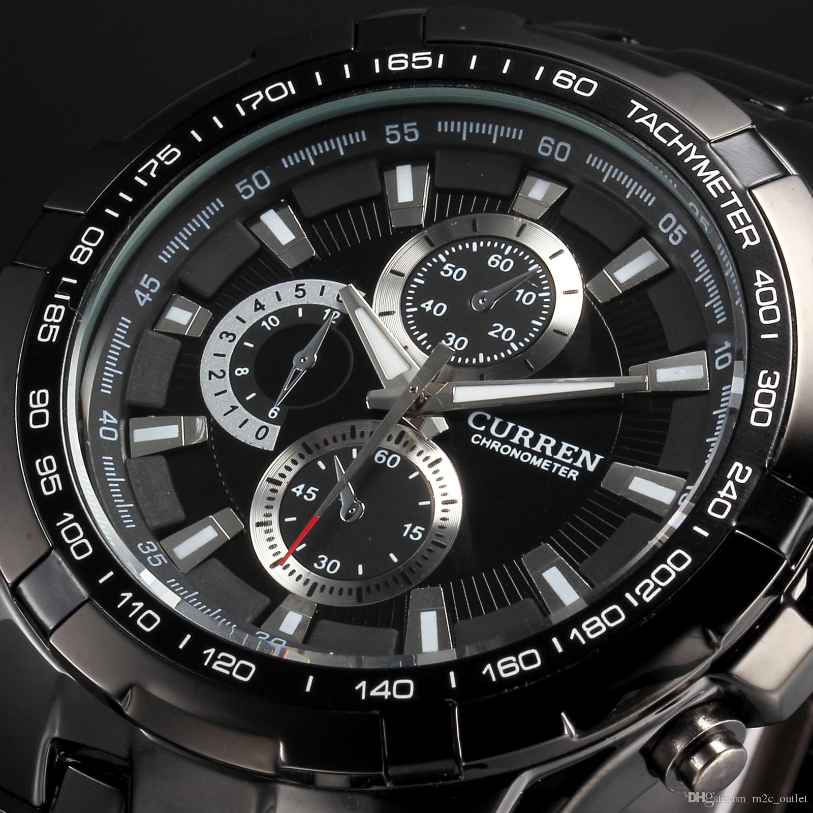 luxury curren black stainless full steel watch analog quartz male luxury curren black stainless full steel watch analog quartz male clock flight hour mens wrist casual fashion sport cool watch cur007