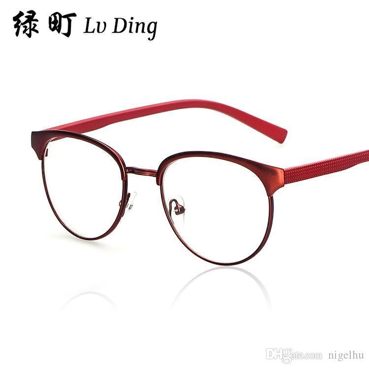 womens glasses eyeglasses frames men colorful retro metal eyeglass frame 9347 men and women wild face