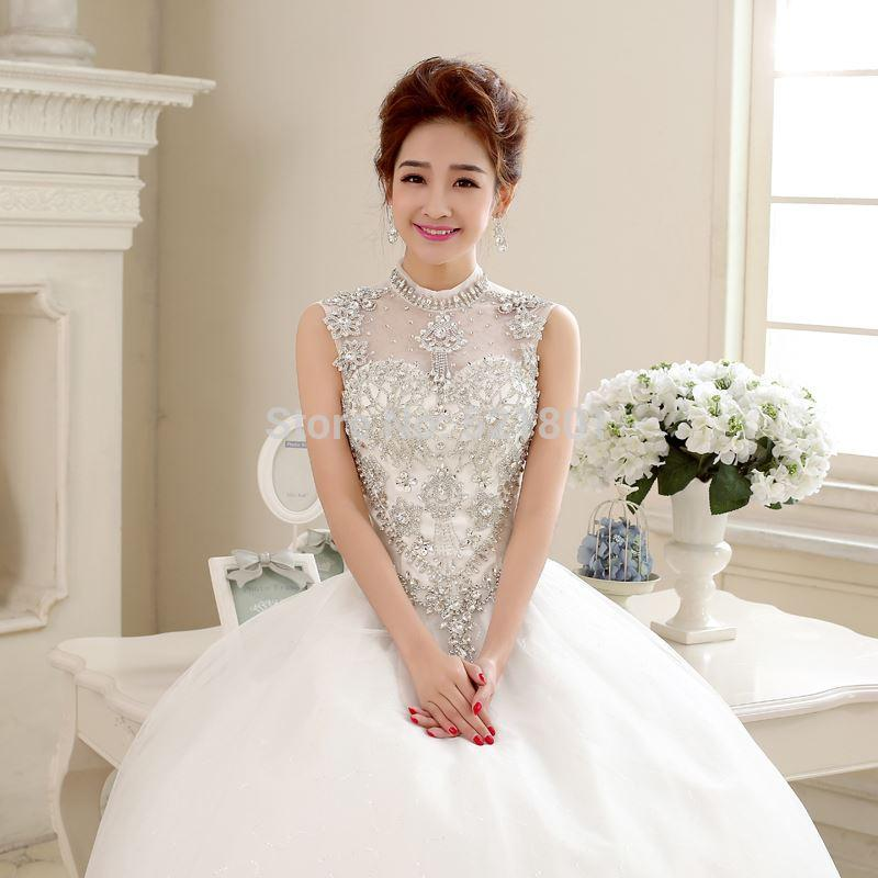 Long sleeve white lace wedding dress