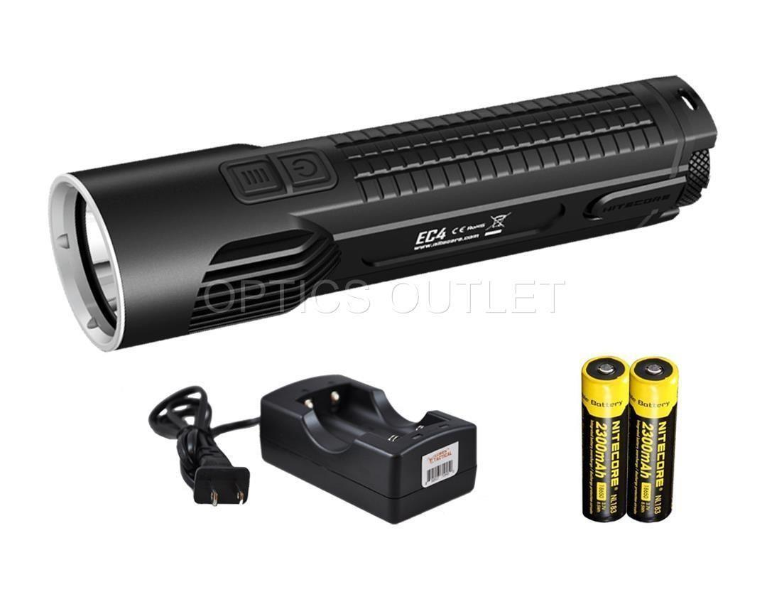 Nitecore Ec4 1000 Lumen Led Flashlight W+Simply2 Channel ...