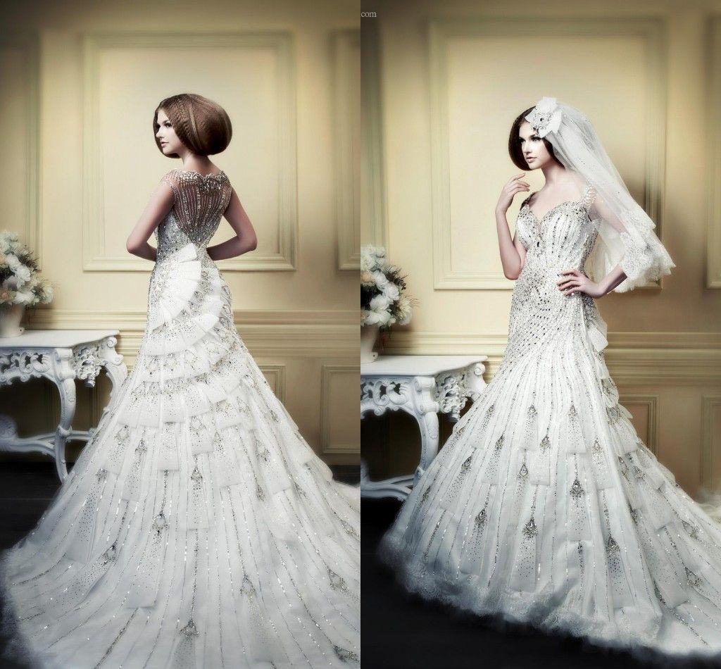 Discount Charming Plus Size 2015 Mermaid Wedding Dresses