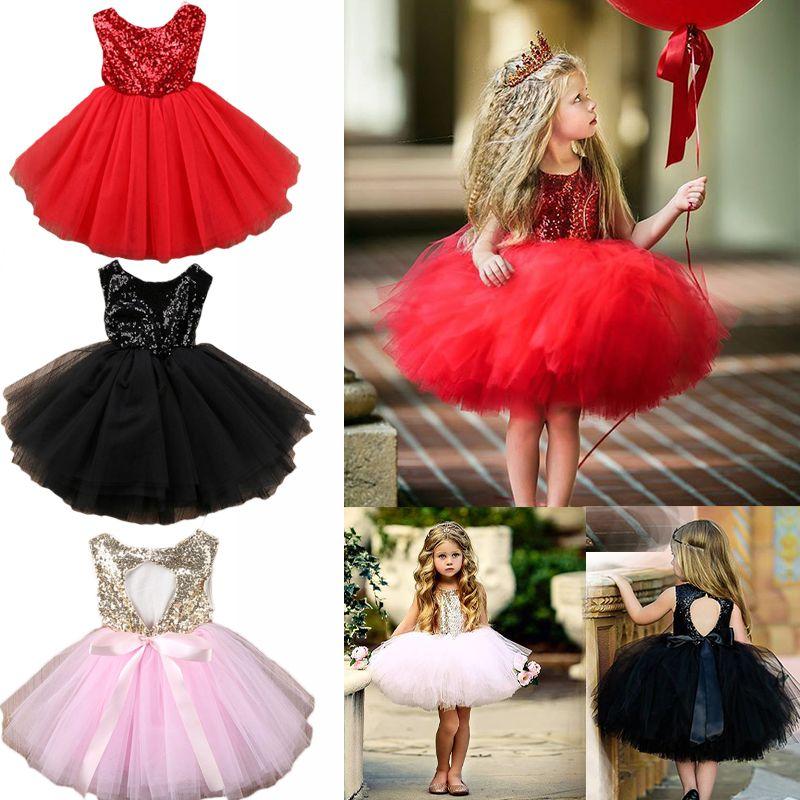 7a0363929 Princess Girls Sequin Dresses Summer Baby Girl Ball Gown Dress Kids ...