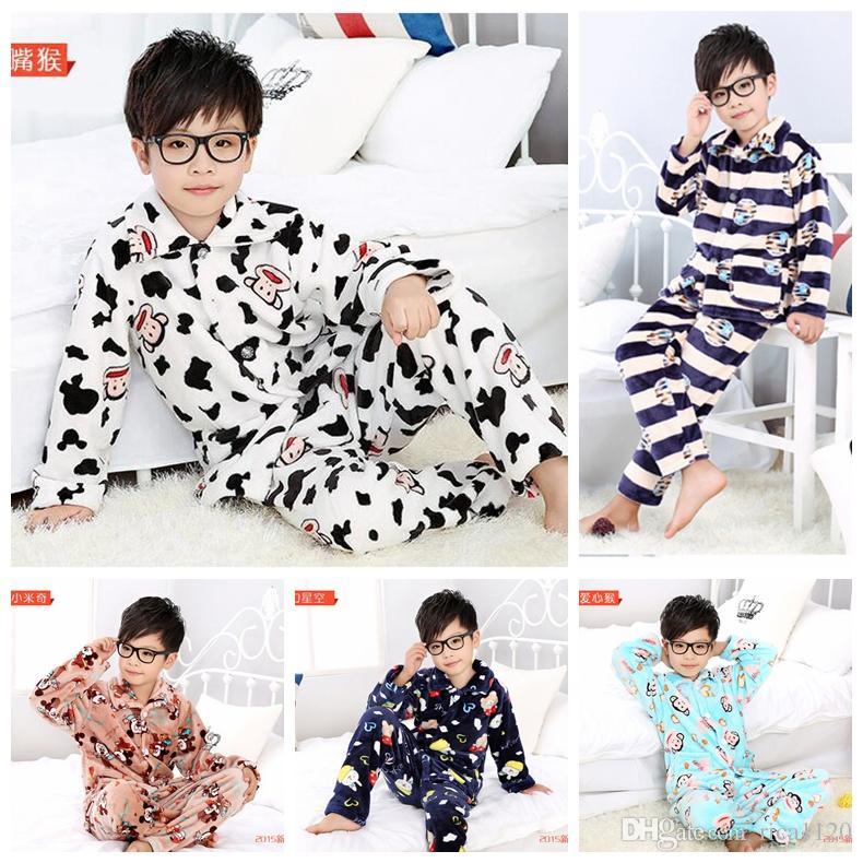Hot Sale Boys Pyjamas Sets Flannel Sleepwear Boys Loungewear Boys ...