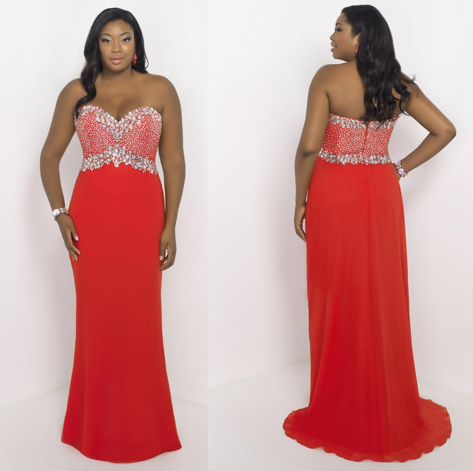 Sequins Plus Size Special Occasion Dresses - Prom Dresses 2018