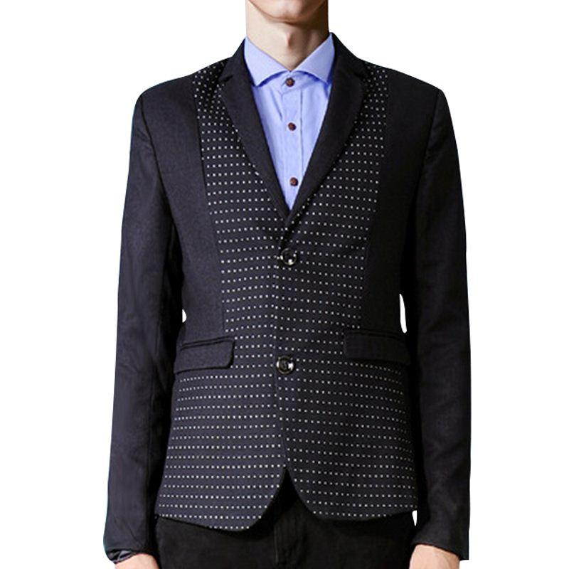 2015 New Arrival Fashion Brand Men Blazer Jacket Polka Dot Design ...