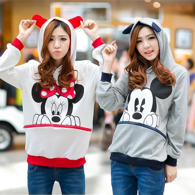 Winter Korean Style Mickey Mouse Sweatshirt of the Fat Girl Plus ...